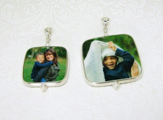 A set of two keepsake photo pendants - FPRH-Set