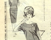 1960s Spadea NS-291 Vintage Sewing Pattern Misses Designer Jacket  or Top Fontana of Italy Size 12 Bust 35