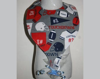 "Baby Bibs, Pacifier Bibs, Bibs with Pacifier, Bibs, Pacifier, "" Football"""