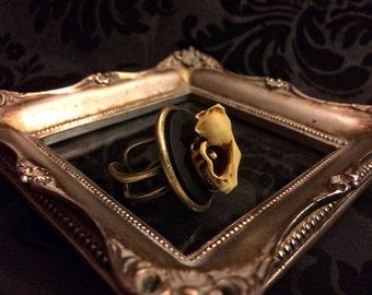 Bat Skull Ring // Bat Ring // Gothic Ring // Bat Jewelry // Taxidermy Jewelry // Gothic Jewelry