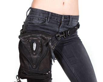 PREDATOR PREY Post Apocalyptic Leather Holster Shoulder and Hip Bag