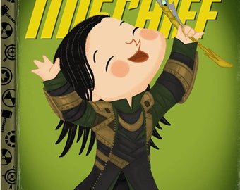 The Little God of Mischief - 8x10 PRINT