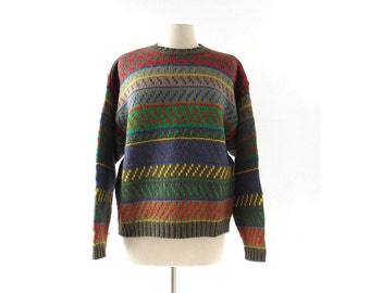 Vintage Esprit Sweater | 80s Sweater | Wool Sweater | L XL