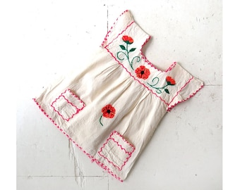 Mexican Embroidered Top | Poppy | Floral Blouse | XS
