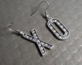 XO Earrings - Marquee Letter Rhinestone Earrings - Valentine's Day Jewelry