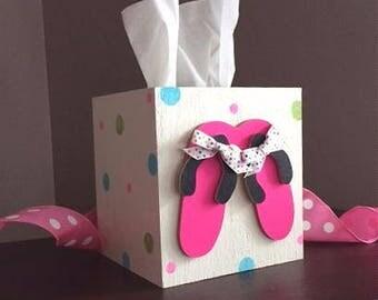 Flip flops , tissue box, boutique style