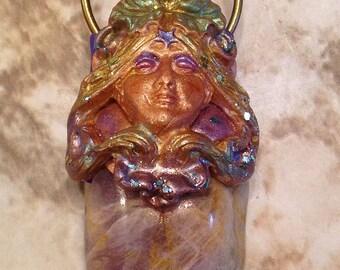 Art Nouveau Lady of the Earth Pendant