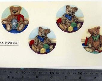 Decals for Ceramic, Teddy Bears, Cute, Vintage, Retro