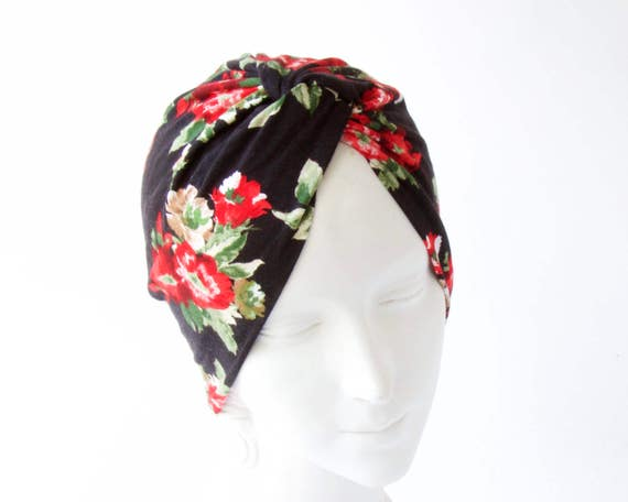 Women's Turban Hat Flirty Floral Spring Accessory Chemo Turban Hair Covering Full Turban Retro Accessory Stretch Turban Hat Summer Beach Hat
