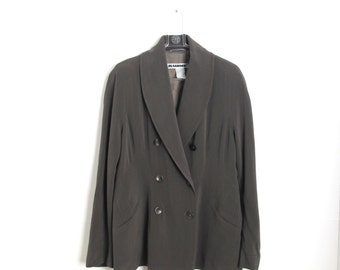 DESIGNER Vintage Jil Sander Double Breasted Long Blazer