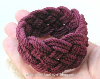 maroon rope bracelet turks head knot armband sailor bracelet 3447