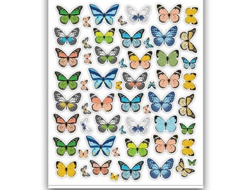 Stickers   Monarch Butterfly Colorful Retro Planner Scrapbook Cardmaking