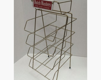 Dutch Masters Cigar Counter Top Wire Display Rack Vintage General Store Cigar Liquor Store Tobacco Smoking