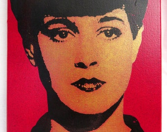 Blade Runner Rachel 8x10 Screenprinted Canvas