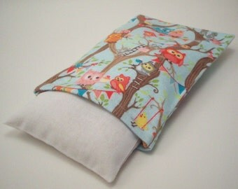 Flannel Owls Rice Bag Heating Pad with  Removable Washable Cover