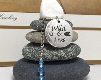 Wild and Free Rock Cairn, Rebel, Gypsy Soul, Free Spirit, Desk Gift, Stone Cairn, Stacked Rocks Stones, Zen Garden,