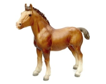 Vintage Breyer CLYDESDALE Foal / Model Horse / Cinnamon Chestnut Horse / Retro Toy / Made In USA / Retired