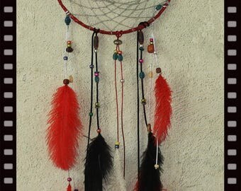 "10"" Dream Catcher Red and Black"