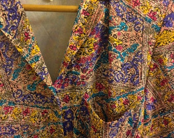 Jewel Tone Shirt Waist Dress by Andrea Gayle Size 4P