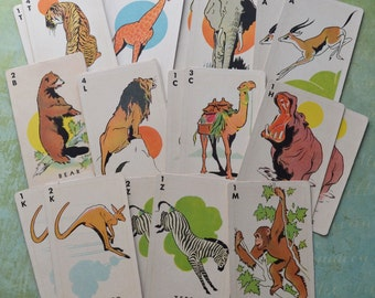 Vintage Animal Playing Cards Lot of 22