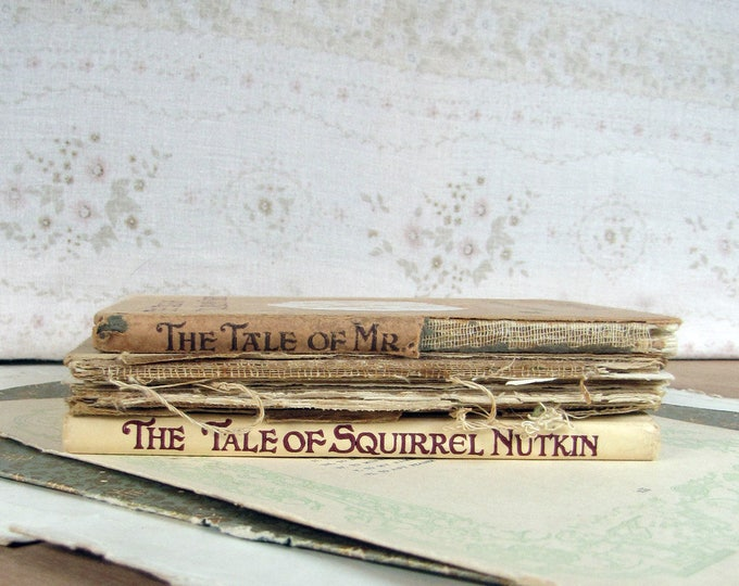 Beatrix Potter books in ruined condition - resell prints, use in art projects or stack and admire