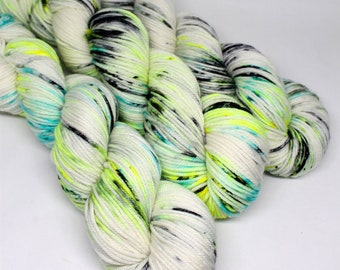 Squish DK - Speckled Yarn - 250 yards - Hand Dyed Superwash Merino Yarn - Glow Bugs