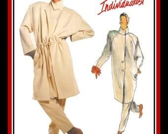 Vintage 1986-EURO COUTURE STYLE-Vogue Designer Sewing Pattern-Jacket-Vest-Pants Ensemble-Loose-Easy Fit-Size 10-Rare