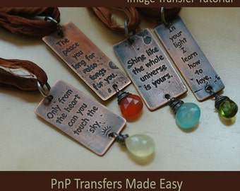 Design Transfer Tutorial:  Etch Your Own Design In Metal With PnP Transfers Made Easy for Etching in Base Metals and Sterling Silver