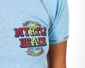 The Vintage 50/50 Light Blue Myrtle Beach South Carolina Tee Tshirt