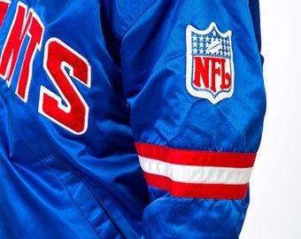 The Vintage Blue New York Giants Football Authentic Proline by Starter Jacket