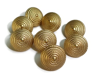 Tiny Gold Metal Vintage Buttons - 3/8 inch for Baby Doll Clothes Jewelry Beads Sewing Knitting