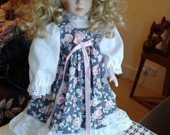 Vintage Porcelain Doll - Storybook Style Porcelain Doll