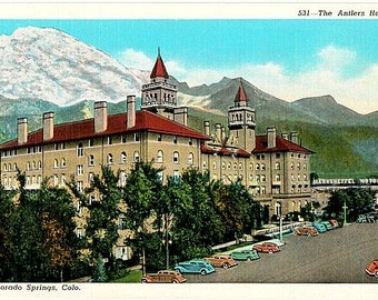 Vintage Colorado Postcard - The Antlers Hotel, Colorado Springs (Unused)
