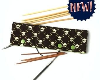 Knitting Pirates in Sage - DPN & Circular Needle Holder