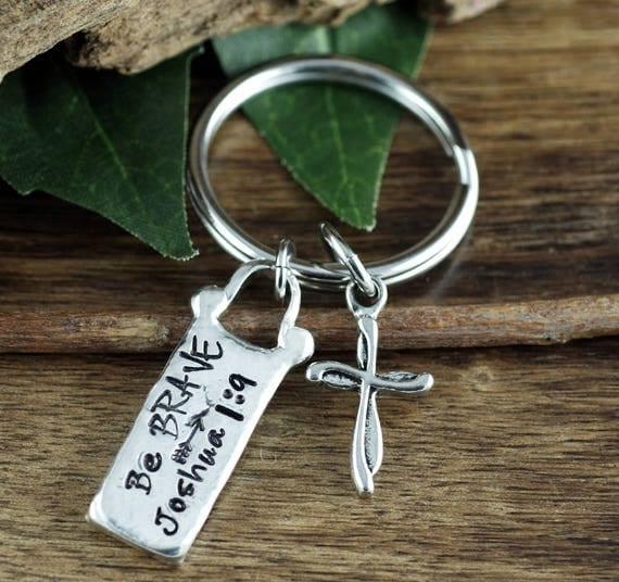 Bible Verse Keychain, Cross Keychain, Keychain for Dad, Religious Keychain, Christian Keychain, Custom Keychain, Personalized Gift
