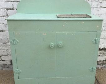 Vintage Children's KITCHEN Play Set Cabinet