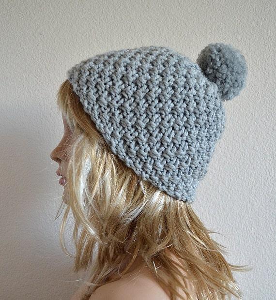 Pom Pom Wool Knitting Patterns : Knit Hat Pattern Knitting Pattern Hat Knit Pom Pom Hat