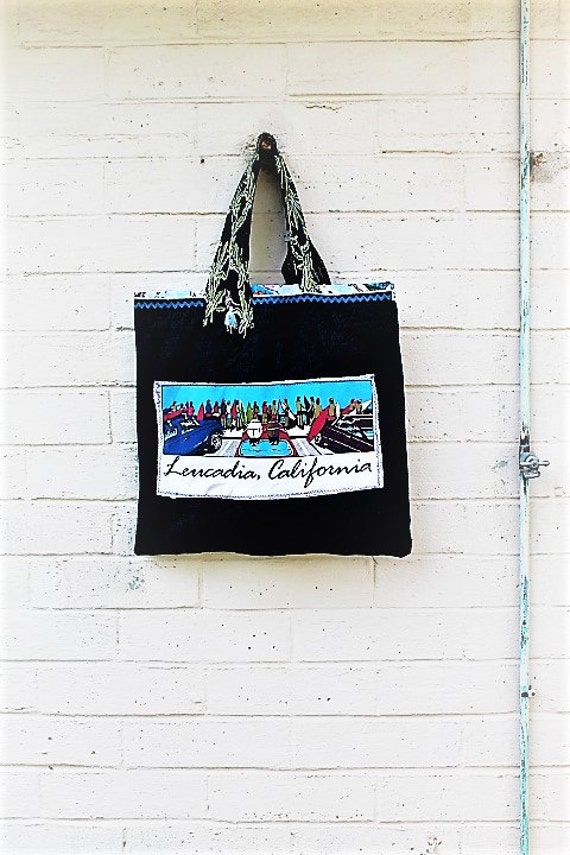 Funky Leucadia Market Bag/Funky Garden Bag/Hobo Farmers Market Grocery Bag/Surf Bag/Eco Living/Garden Bag/Shop local/Beacons Beach Leucadia