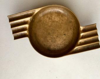 Vintage Art Deco Copper Ashtray Revere Rome NY