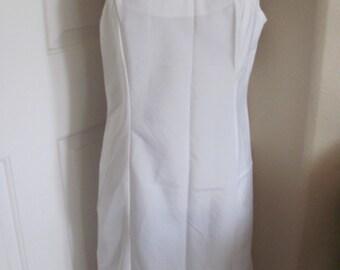 Slip Wonder Maid Vintage Silky Lace Lingerie Boudior Pajama Nightgown Slip White  Size 40
