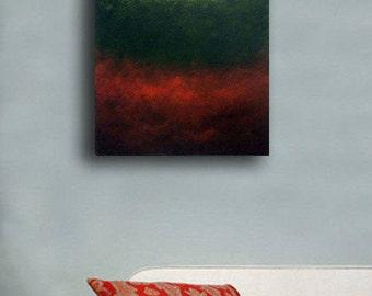 Modern Abstract Art - Modern Art- Modern Painting- Modern Wall Art- Large Artwork- White, Red,Green - Surrounded
