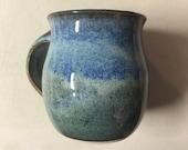 Custom order for Dolly - Denim Blue with Indigo Blue Accents Mug - Coffee Mug #1