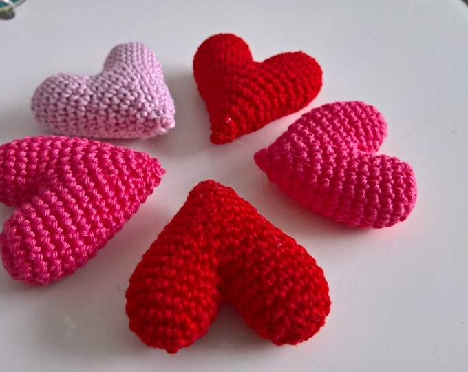 Crochet Heart Pattern, Valentine's Day, Love, Anniversary, Gift, Under 5, Decoration