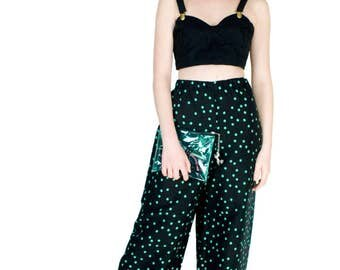 Black Linen Bustier Summer Crop Top with Adjustable Straps Vintage Style Fashion Size M
