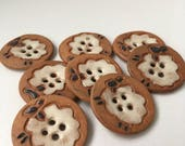 Handmade sheep buttons