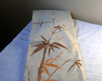 1970s Springmaid  twin fitted tan bamboo sheet with butterflies