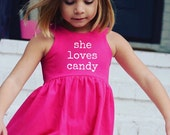 She loves - VALENTINE'S line, Bright Pink and White dress