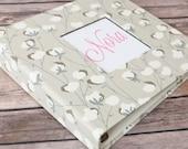Baby Book, Baby Gift, Baby Album, Baby Memory Book, Baby Keepsake, Modern Baby Book, Tan with Cotton Print