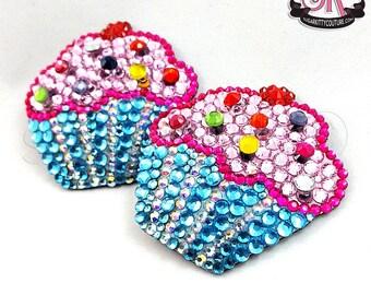 Cupcake Rhinestone Nipple Pasties - SugarKitty Couture