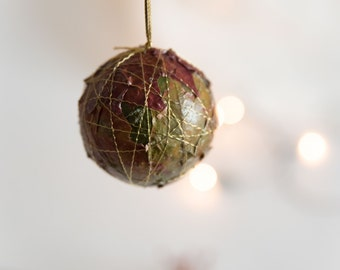 Rustic Ornament Set - Natural Christmas Ornaments - Christmas Ornaments Balls